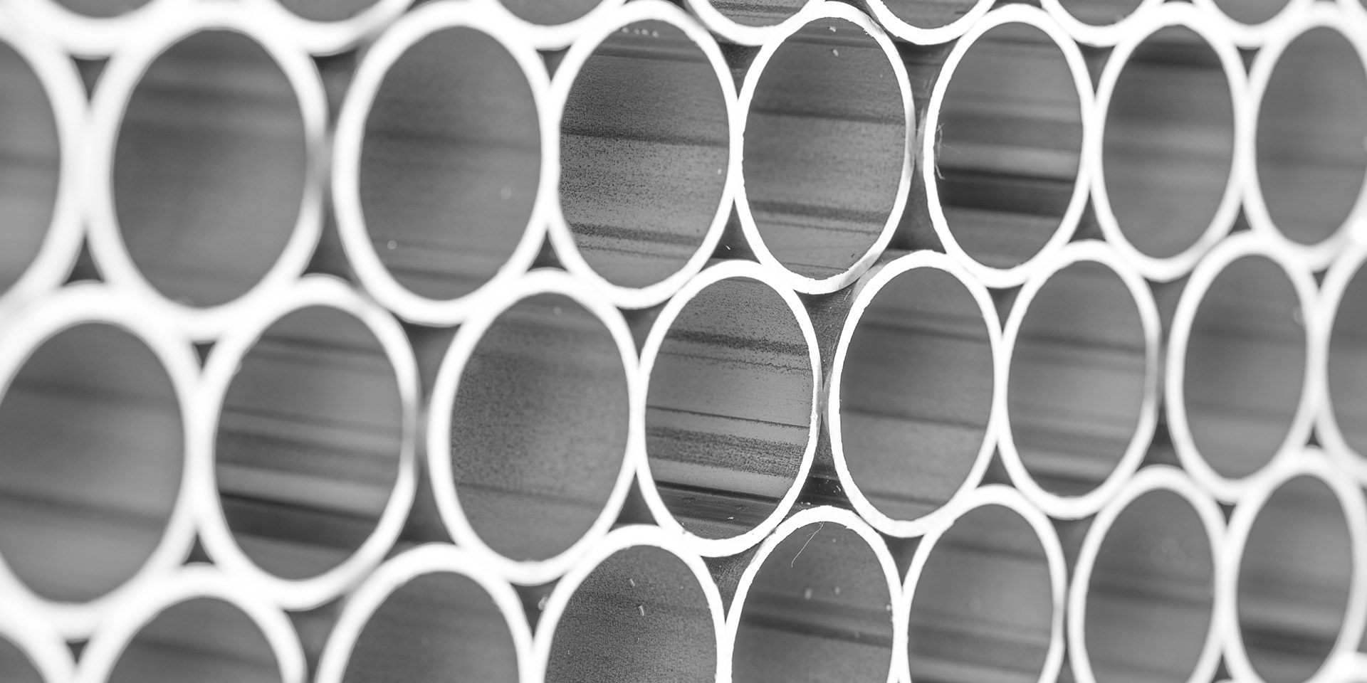 Array of stainless steel tubes